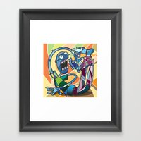 Fragmented Reality Framed Art Print