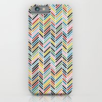 iPhone & iPod Case featuring Herringbone Colour #2 by Project M