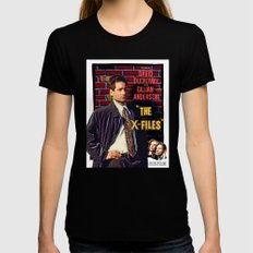 The X-Files As Rebel Wit… Womens Fitted Tee Black SMALL
