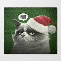 Grumpy Xmas Canvas Print