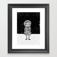 Snowgirl Framed Art Print