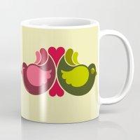 Olive Rosebirds Mug