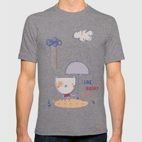 Rainy Days Mens Fitted Tee Tri-Grey SMALL