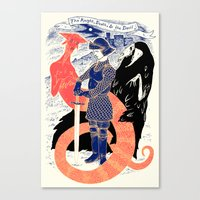 The Knight, Death, & The… Canvas Print