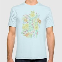 It's Floral Mens Fitted Tee Light Blue SMALL