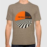 Twin Peaks Mens Fitted Tee Tri-Coffee SMALL