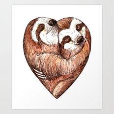 Sloth Love Art Print