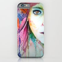 iPhone & iPod Case featuring Thoughtful by Veronika Weroni Vajdová
