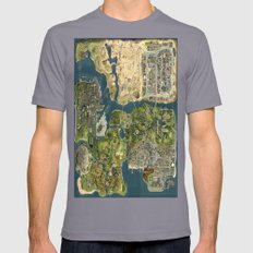 Maps Mens Fitted Tee Slate SMALL