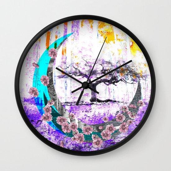 MOONLET TREE Wall Clock