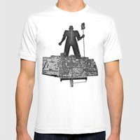 Working America Mens Fitted Tee White SMALL