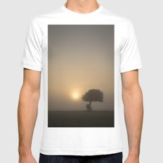 Tree in the Fog Mens Fitted Tee White SMALL