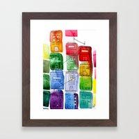 Rainbow Village 1 Framed Art Print