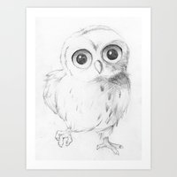 Sweet Little Owl Art Print