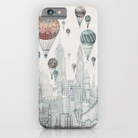 iPhone Cases featuring Voyages Over New York by David Fleck