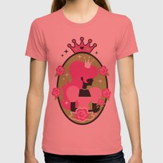 Princess Silhouette Womens Fitted Tee Pomegranate SMALL