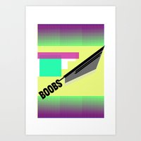BOOBS !¡!¡! — Shapes… Art Print