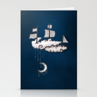 ship Stationery Cards featuring SHIP by Jumanaah Hiasat