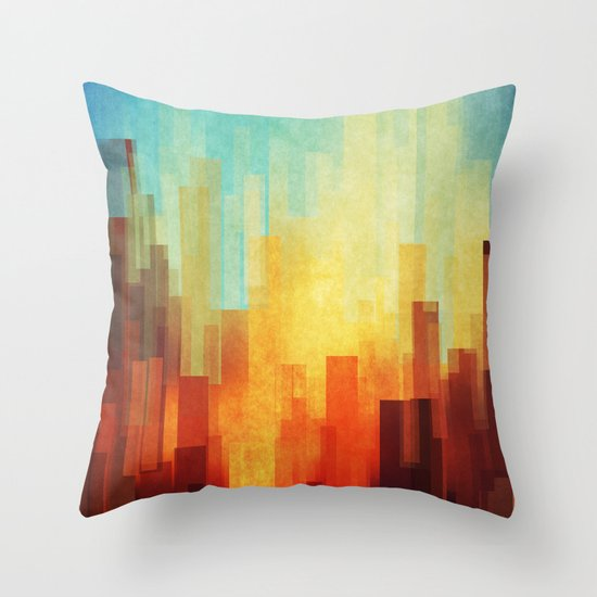 Urban sunset Throw Pillow