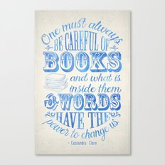 Be Careful Of Books - Wh… Canvas Print