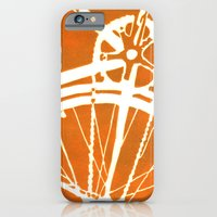 iPhone & iPod Case featuring Orange Bike by CAPow!