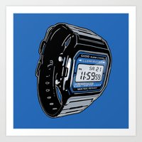 Casio F-105 Digital Watc… Art Print