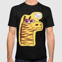 Purple Zebra :) Mens Fitted Tee Tri-Black SMALL