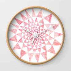 mandala:triangles Wall Clock