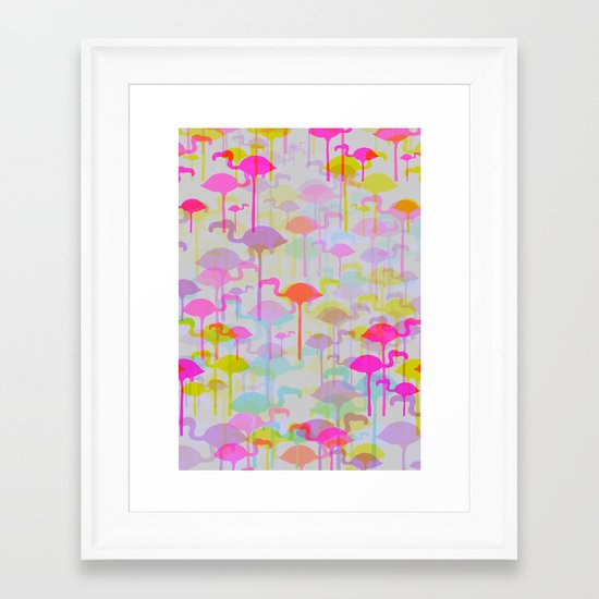 Flamingo Land Framed Art Print