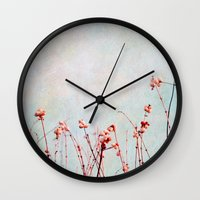 snowberries Wall Clock