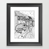 The Frog Framed Art Print