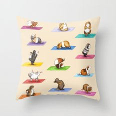 The Yoguineas Collection - Namast-hay! Throw Pillow