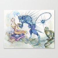 Porcupine Knight Canvas Print