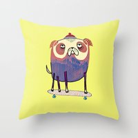 Pug Dude. Throw Pillow