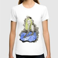 Blue Dress Womens Fitted Tee White SMALL