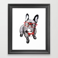 Happy Dog Framed Art Print