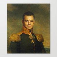 Matt Damon - replaceface Canvas Print