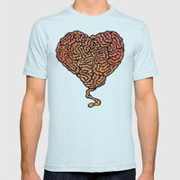 Brainheart Mens Fitted Tee Light Blue SMALL