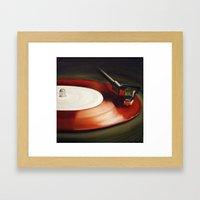 Red Record  Framed Art Print