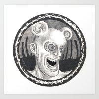 Rev. Splonk going insane Art Print