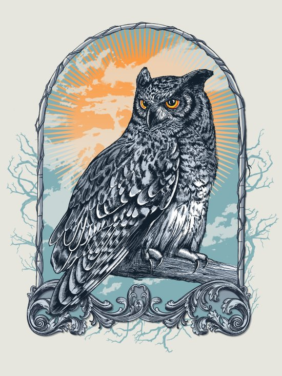 Twilight Owl Canvas Print