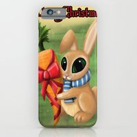 iPhone & iPod Case featuring Bunny Xmas Card by Sarah J