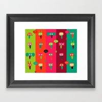 Cute Animals Framed Art Print