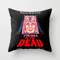 Tron Of The Dead Throw Pillow