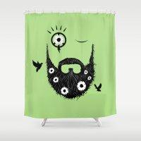 Make Beards Not War! Shower Curtain