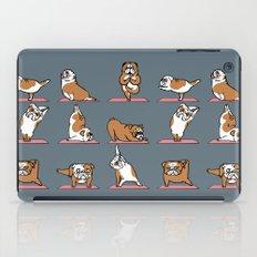 English Bulldog Yoga iPad Case