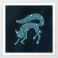 Star Fox (Vulpes Astra) Art Print