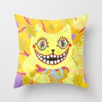 Cheshire Cat Throw Pillow