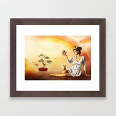 Snow White was a Hippie Framed Art Print