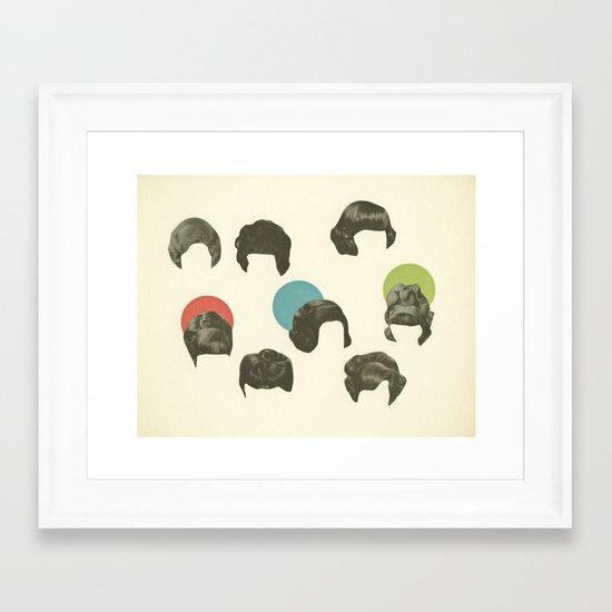 Hair Today, Gone Tomorrow Framed Art Print